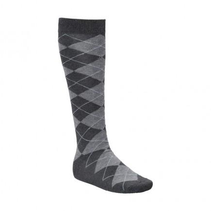 JRB Men's Argyll Golf Socks - Charcoal / Black