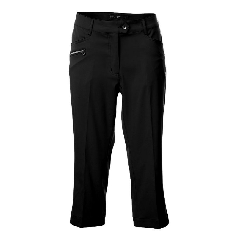 JRB Women's Golf Capri Trousers - Black