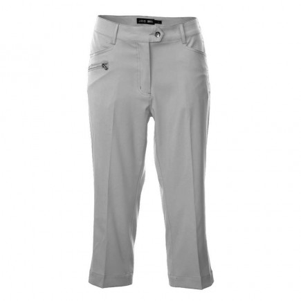 JRB Women's Golf Capri Trousers - Light Grey