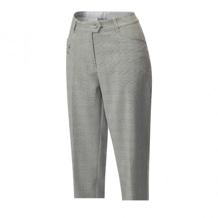 JRB Women's Golf Capri Trousers - Prince of Wales Check