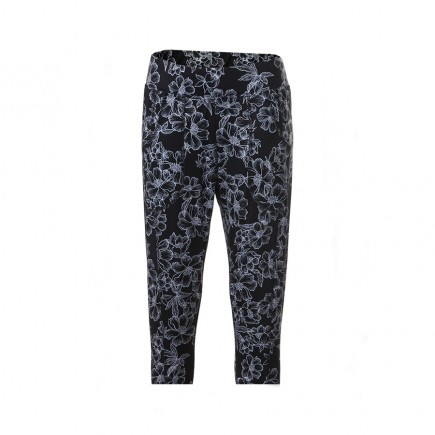 JRB Women's Golf Leggings - Black with Flower Pattern