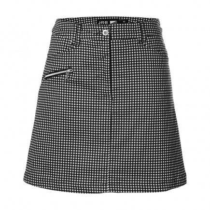 JRB Women's Golf Skort - Black Gingham