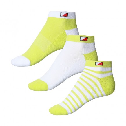 JRB Women's Golf Socks - Lime Green - Pack of 3 Pairs