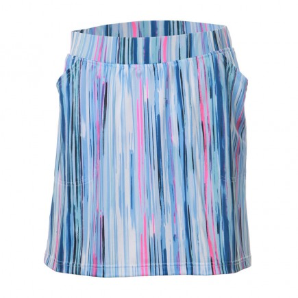 JRB Women's 'Pull On' Golf Skort - Blue Stripes