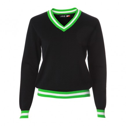 JRB Women's Golf - Spring / Summer - Sweaters - Black with Green and White Detail