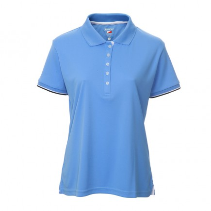 JRB Women's Golf Pique Shirt - Blue - Sleeved or Sleeveless