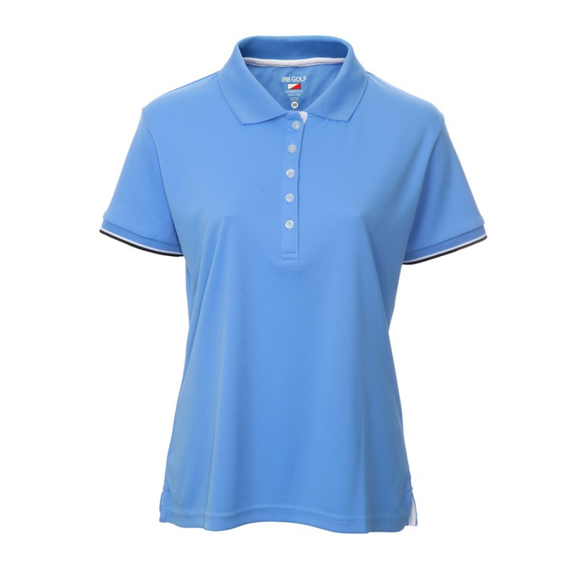 JRB Women's Golf Pique Shirt - Blue - Sleeved or Sleeveless