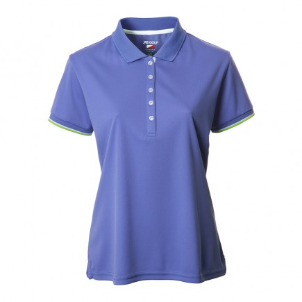 JRB Women's Golf Pique Shirt - Dusted Peri Blue - Sleeved or Sleeveless