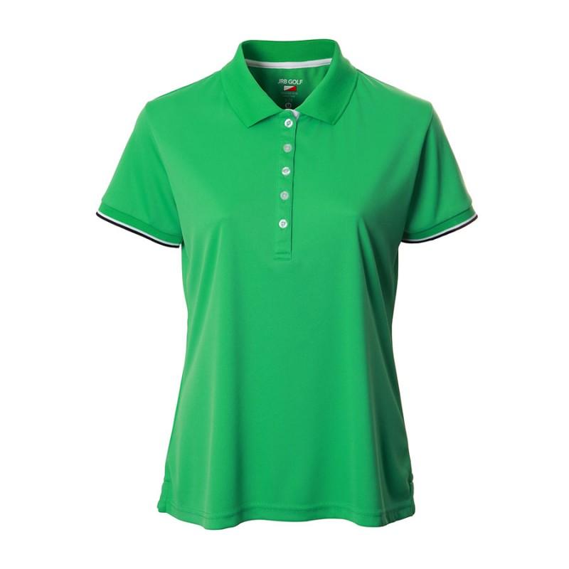 JRB Women's Golf Pique Shirt - Green - Sleeved or Sleeveless