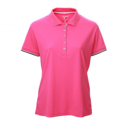 JRB Women's Golf Pique Shirt - Pink - Sleeved or Sleeveless