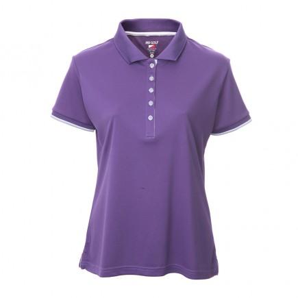 JRB Women's Golf Pique Shirt - Purple - Sleeved or Sleeveless