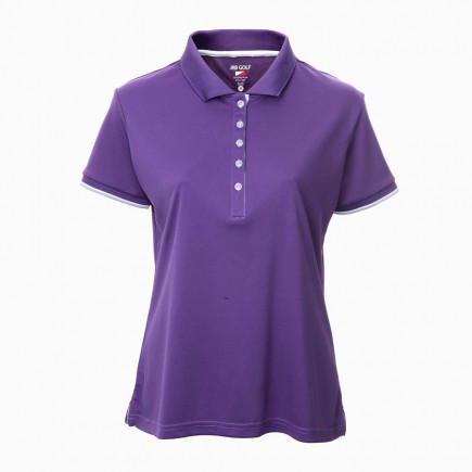 JRB Women's Golf Pique Shirt - Purple - Sleeved or Sleeveless