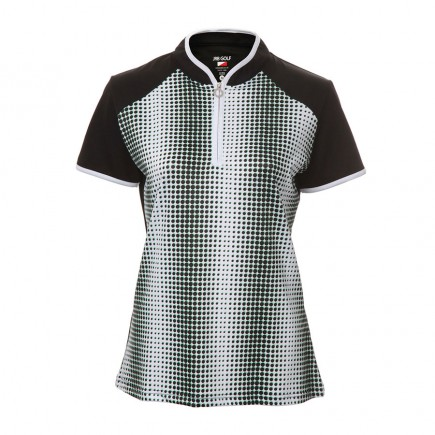 JRB Women's Golf Black Spot Fashion Shirt - Sleeved or Sleeveless