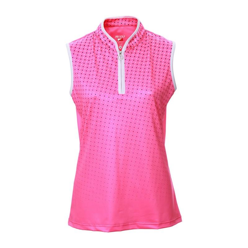 JRB Women's Golf Pink Spot Fashion Shirt - Sleeved or Sleeveless