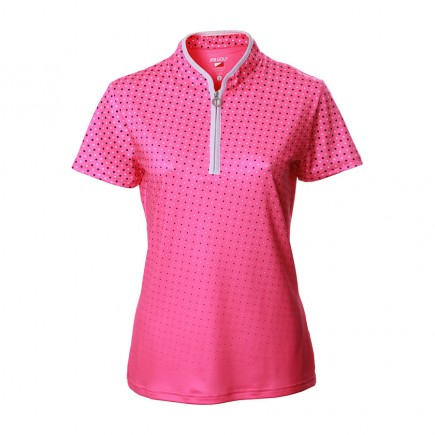 JRB Women's Golf Pink Spot Fashion Shirt - Sleeved or Sleeveless