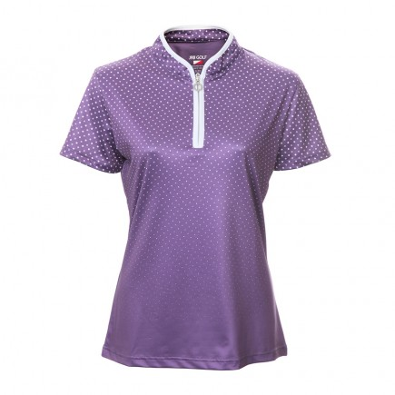 JRB Women's Golf Purple Spot Fashion Shirt - Sleeved or Sleeveless