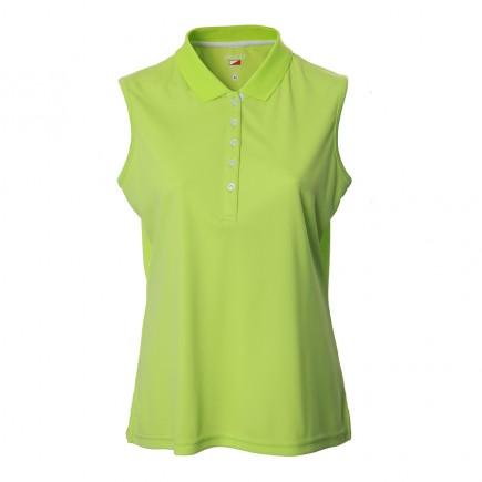 JRB Women's Golf Pique Shirt - Lime Green - Sleeved or Sleeveless