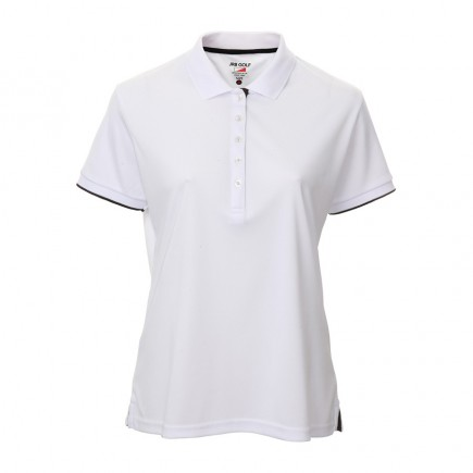 JRB Women's Golf Pique Shirt - White - Sleeved or Sleeveless