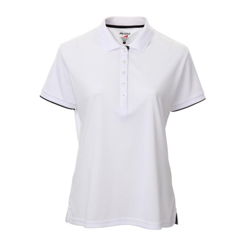 JRB Women's Golf Pique Shirt - White - Sleeved or Sleeveless