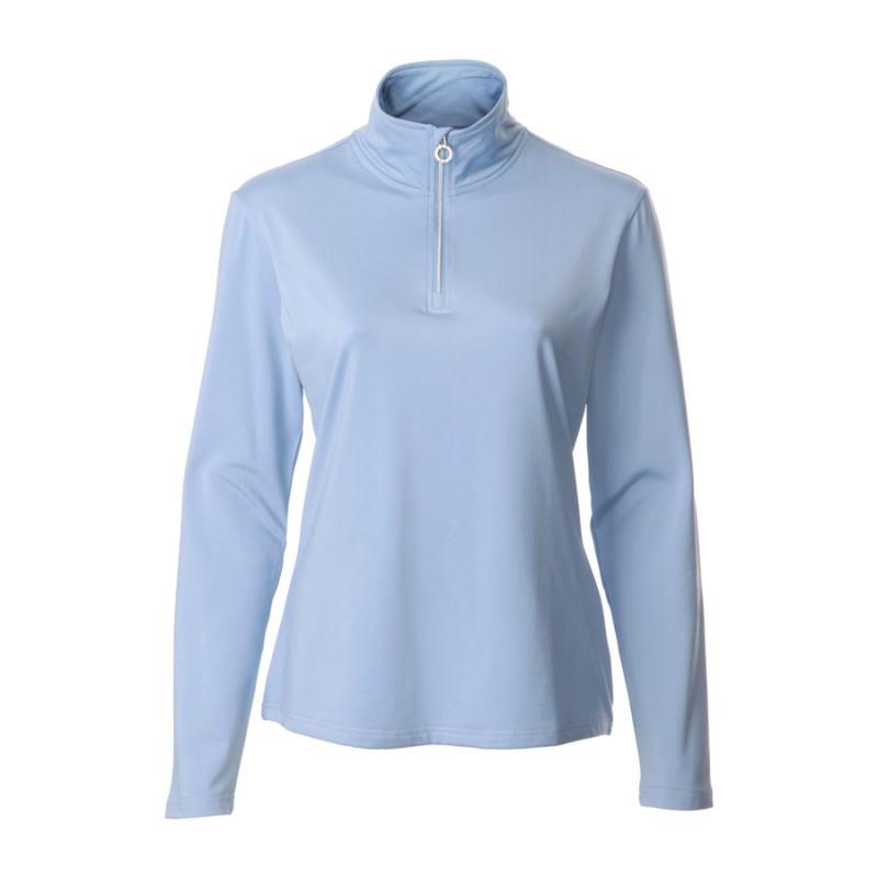 JRB Women's Golf - 1/4 Zipped Tops - Heron Blue