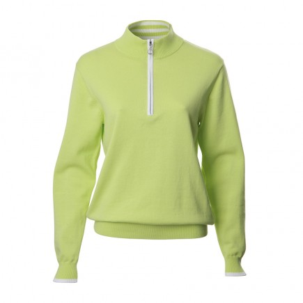 JRB Women's Golf - 1/4 Zipped Sweaters - Lime Green