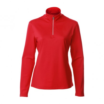 JRB Women's Golf - 1/4 Zipped Tops - Crimson Red